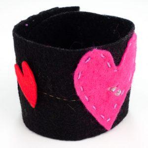 Heart E-textile bracelet