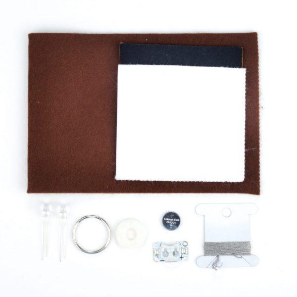 E-textile fox key ring kit
