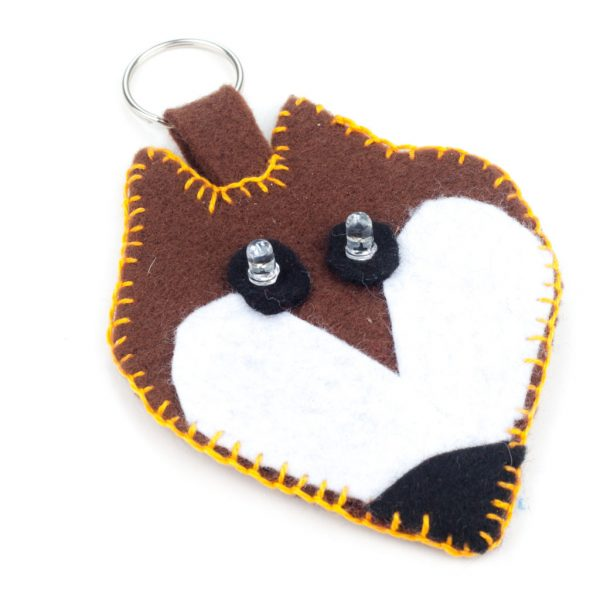 E-textile fox key ring