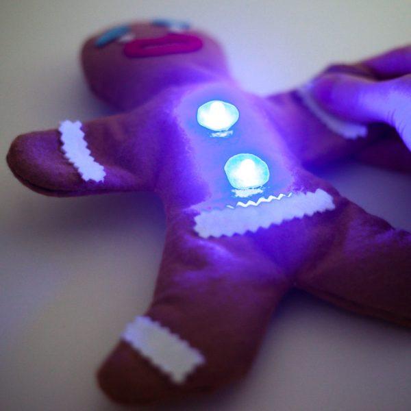 E-textile Gingerbread man