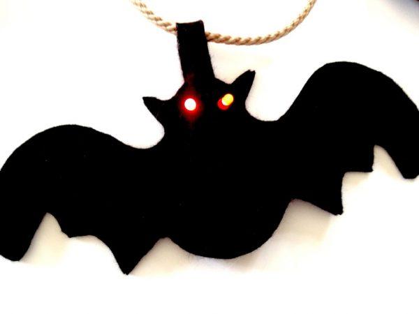 E-textile Halloween Bunting - bat