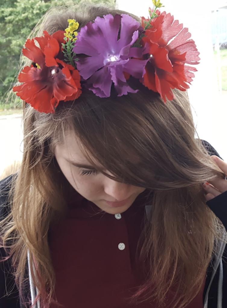 Flower headband Chibi lights tropical