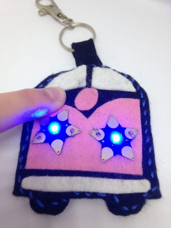 Camper Van Keyring with Teknikio star LED's