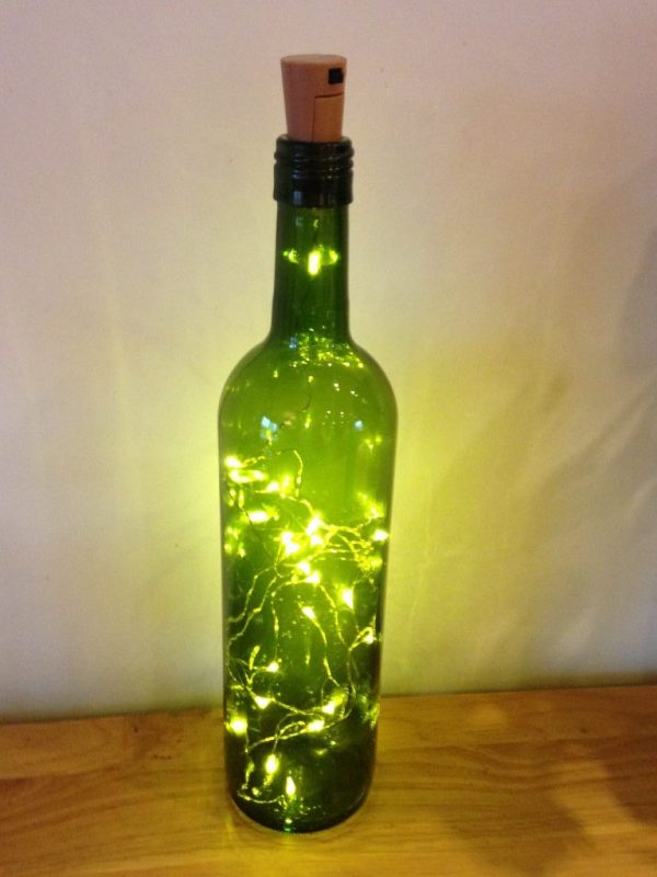 Cork bottle lights