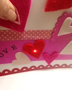 Chibitronics Love card Light Stitches