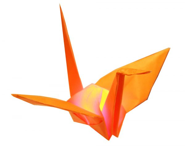 Teknikio activating origami crane