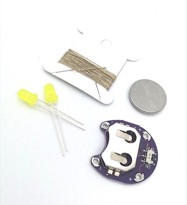 E-textile kit yellow LED's