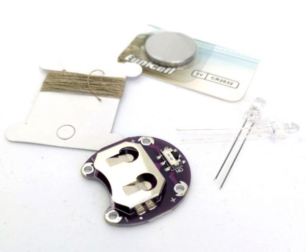 E-textile kit white LED's