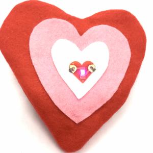 Heart Tecknikio purse