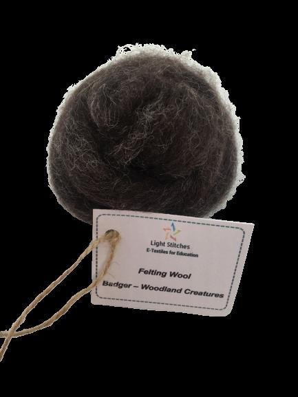 Badger corriedale wool