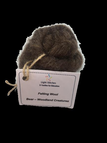 Bear corriedale wool