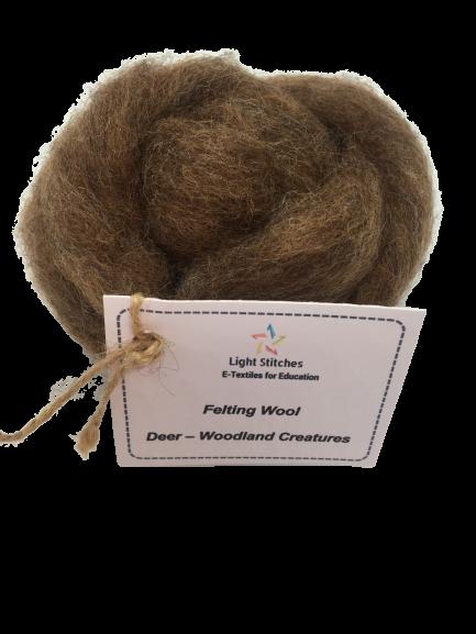 Deer corriedale wool