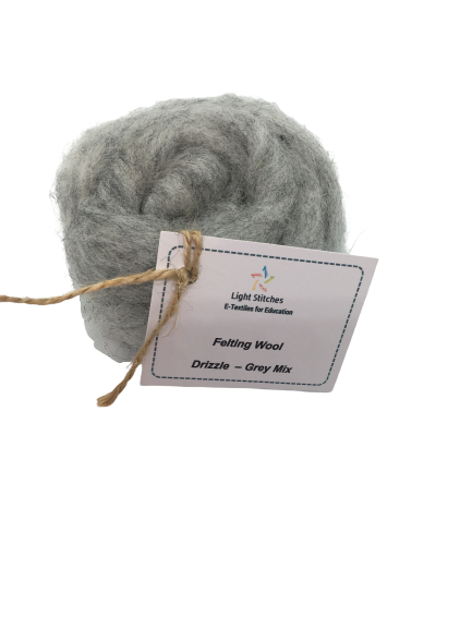 Corriedale wool drizzle grey mix