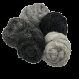 Corriedale wool grey mix