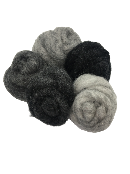 Corriedale wool grey mix