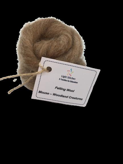 Mouse corriedale wool