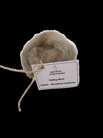 Rabbit corriedale wool