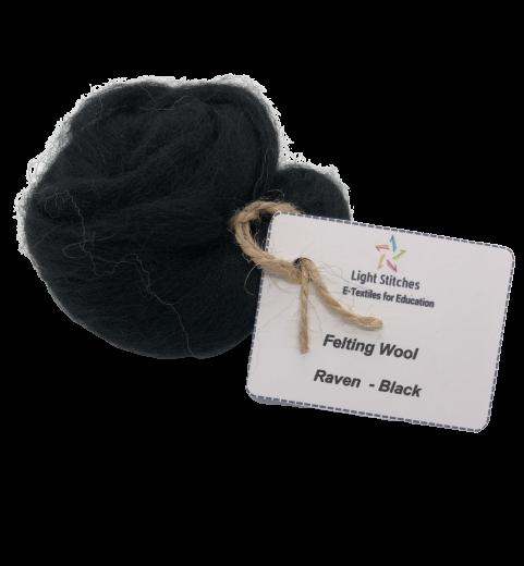 Corriedale wool raven
