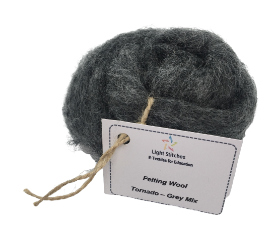 Corriedale wool tonado grey mix