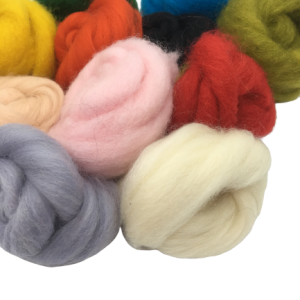 Coloured Corriedale wool
