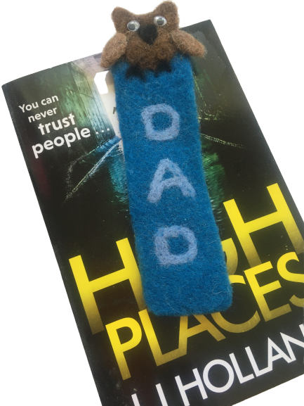 Dad felted bookmark