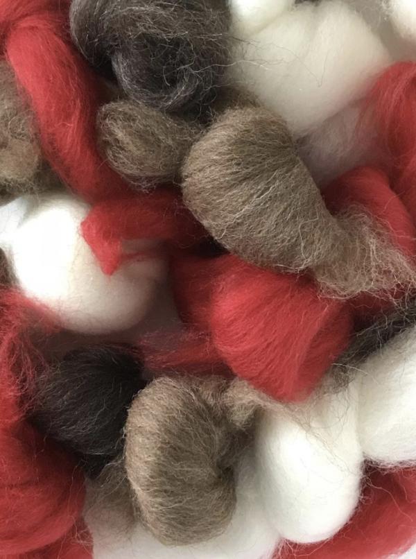 Needle felting wool robin