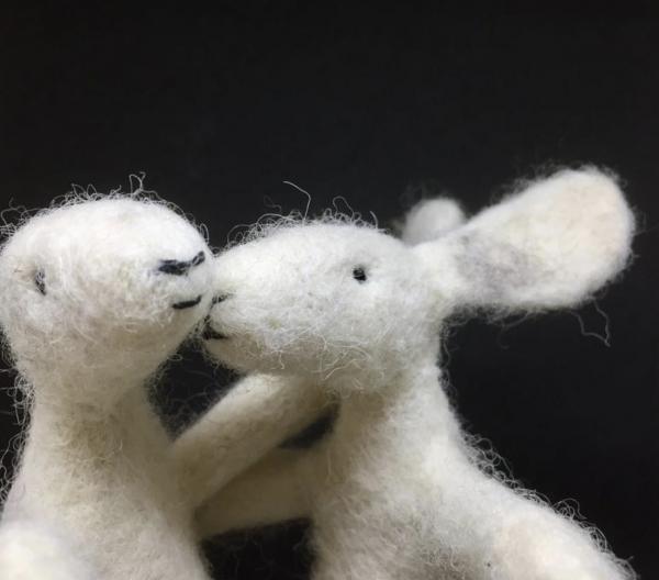 White hares