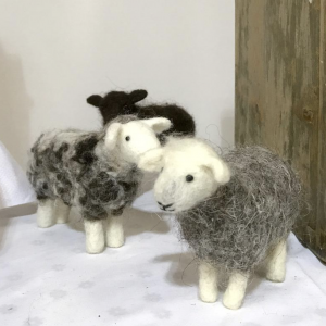Needlefelted sheep