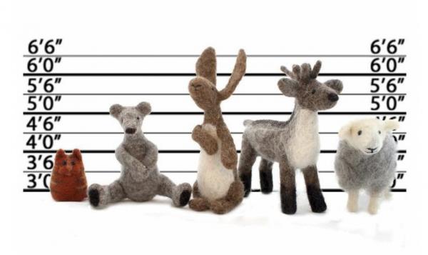 Needlefelted animals
